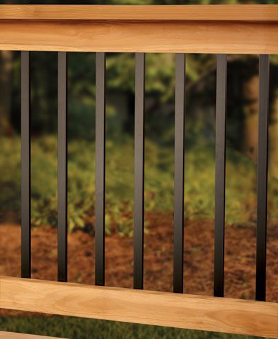 Deck railing designs traditional deck railings made easy for Garden decking spindles