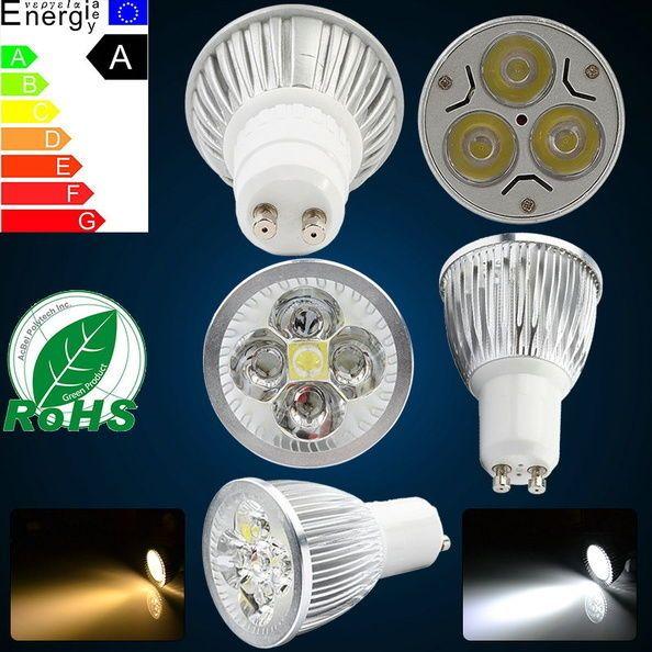 4/6/12 GU10 LED Spot Lampe Licht Einbaustrahler Strahler High Power Leuchtmittel