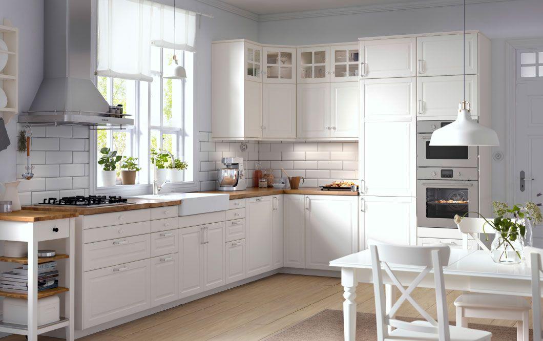 Image Cuisine Blanche Et Bois De Christina Fischer Du Tableau Kuche Cuisine Ikea Amenagement Cuisine