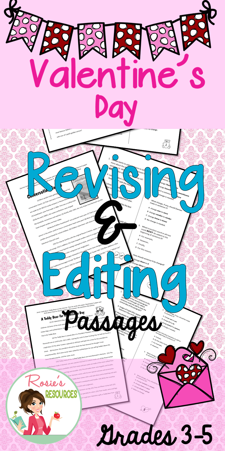 Valentine\'s Day Revising and Editing | Valentines, Student and US states