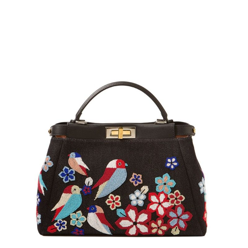 Fendi Beaded Bird Peekaboo Satchel