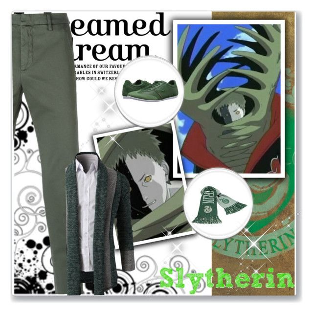 """Hogwarts Students: Zetsu"" by bambolinadicarta ❤ liked on Polyvore featuring Dondup, Lacoste, men's fashion and menswear"