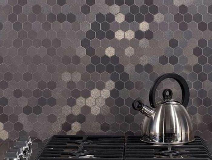carrelage-adhesif-mural-mosaique-pour-les-murs-dans-la-cuisine - carrelage mur cuisine moderne