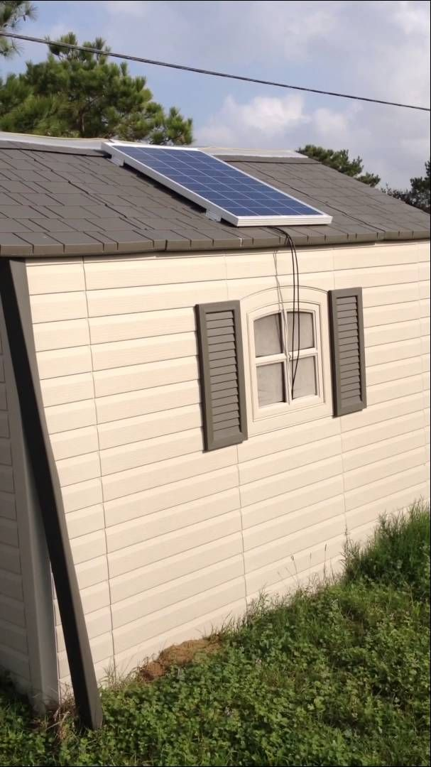 Renogy Solar Panel Shed Solar Panels Solar Shed