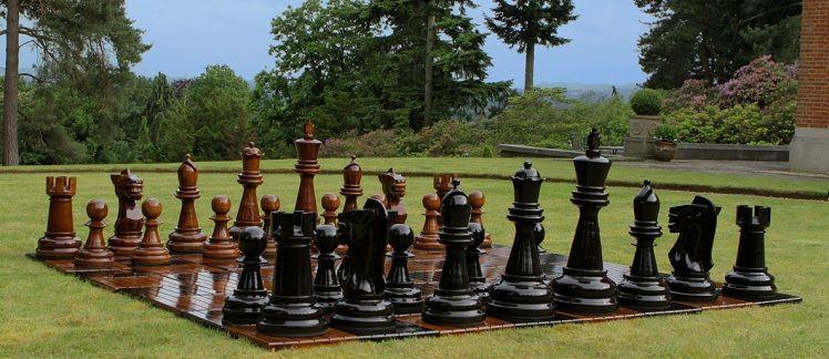 Giant Chess Pieces - Teak - 60cm