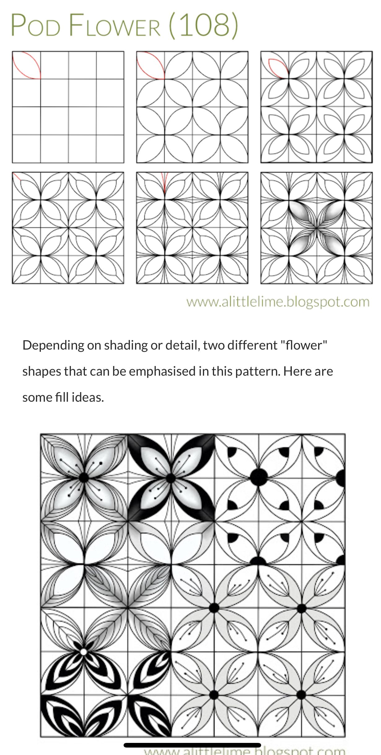Pin By Melanie Badgett On Zentangle Patterns