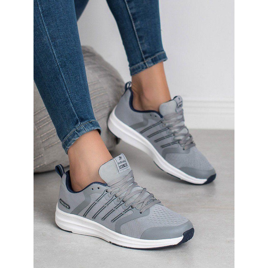 Ax Boxing Lekkie Buty Sportowe Szare Trainers Women Sport Shoes Shoes