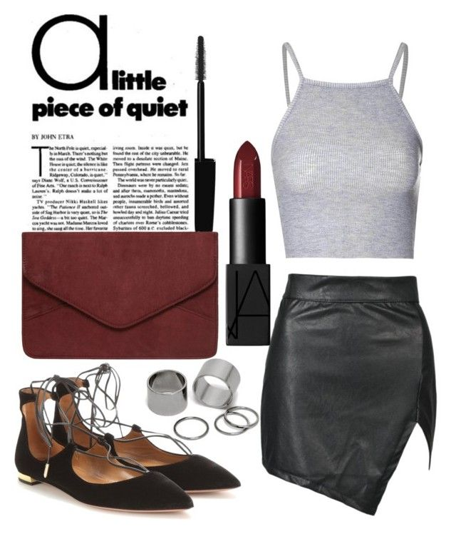 """""""Untitled #215"""" by thato-bapela ❤ liked on Polyvore featuring Glamorous, Aquazzura, Dorothy Perkins, Pieces and NARS Cosmetics"""