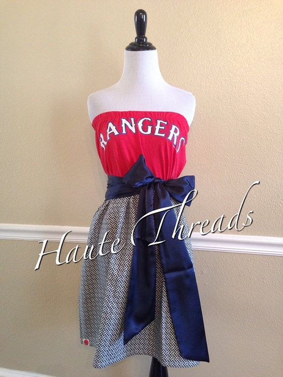 Texas Rangers Mlb Baseball Tube Strapless Gameday Dress By Hautethreadsboutique 50 00 Gameday Dress Strapless Tube Dress Gaming Clothes