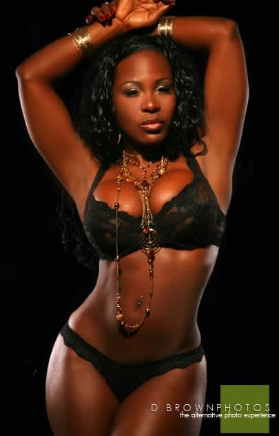 lingerie Ebony models nasty