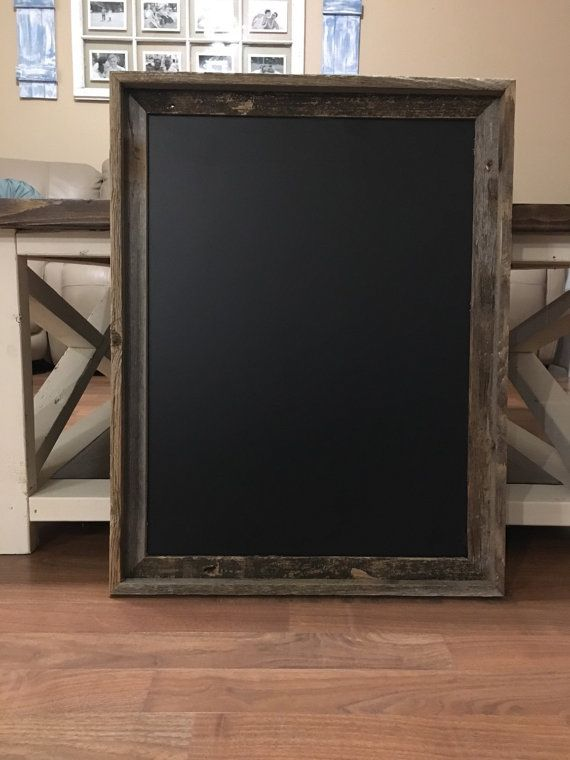 Large Chalkboard Barn Wood Frame Chalkboard By Peavypieces On Etsy Barn Wood Frames Large Chalkboard Framed Chalkboard