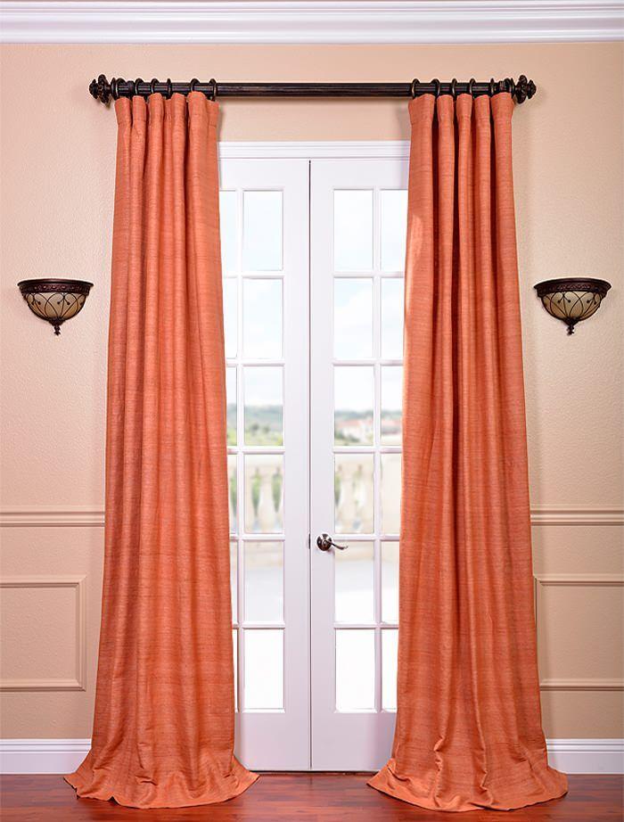 Half Price Drapes Terracotta Raw Silk Curtain Ssrw Lf953 Reviews