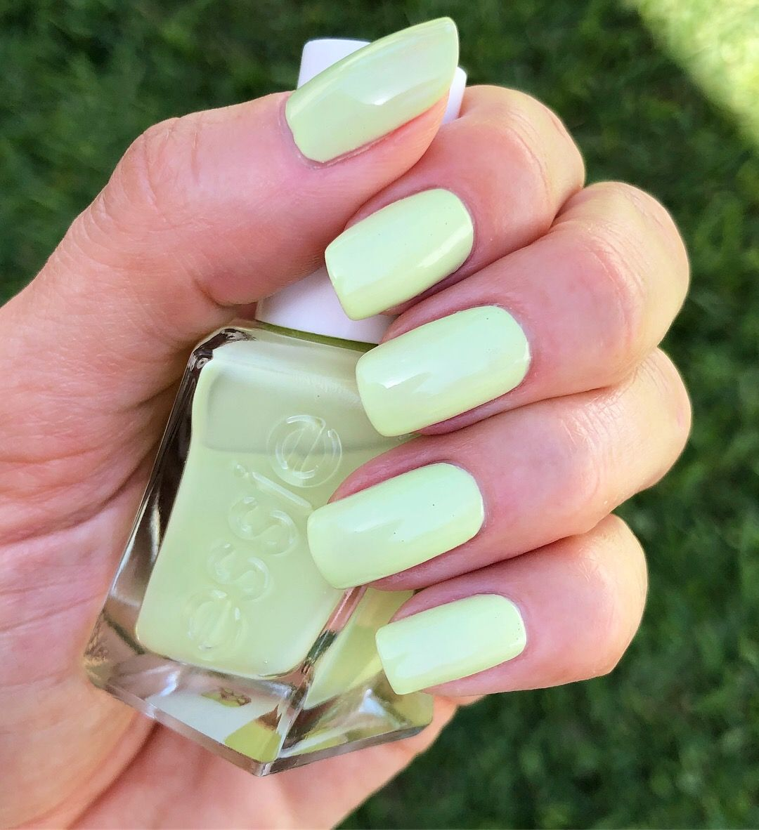 Essie Gel Couture - Take a Walk - lime green chartreuse nails ...