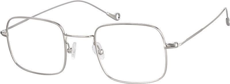 Silver Square Glasses 3212611 Zenni Optical Eyeglasses Square Glasses Wire Frame Glasses Wire Rimmed Glasses