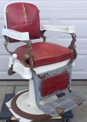 Brilliant Vintage Berninghaus Hercules Barber Shop Chair For Parts Or Short Links Chair Design For Home Short Linksinfo