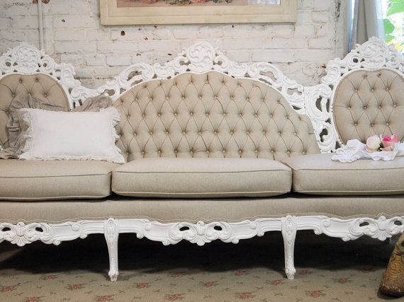 Marvelous Long Tufted Settee Chic French Tufted Louis Sofa Chr361 Evergreenethics Interior Chair Design Evergreenethicsorg