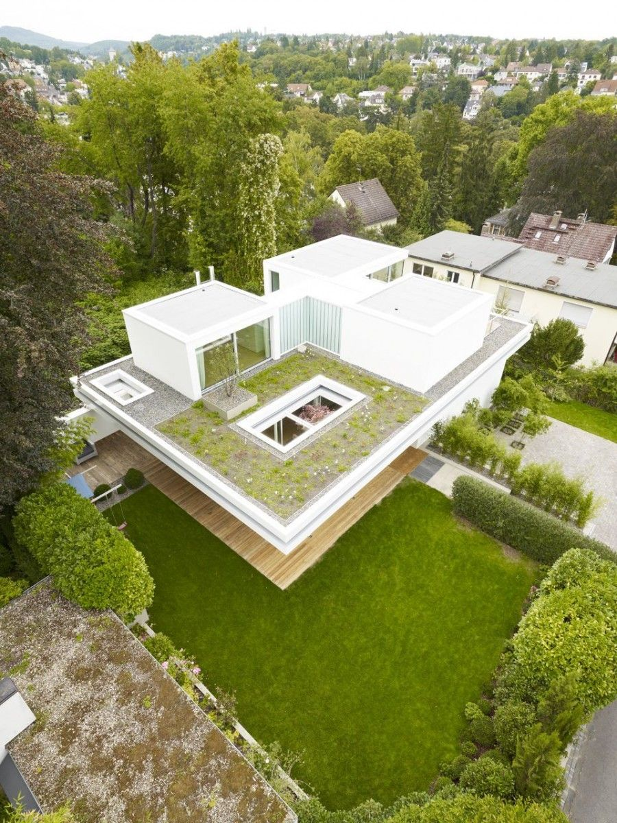 garden fascinating rooftop garden plans ideas fantastic white float house design with green rooftop - House Designs With Garden