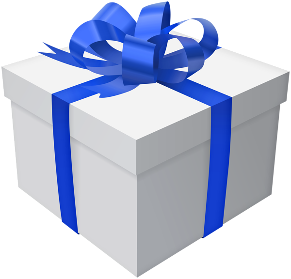 Gift Box With Blue Bow Png Clip Art Image Clip Art Pictures Of Presents Art Images