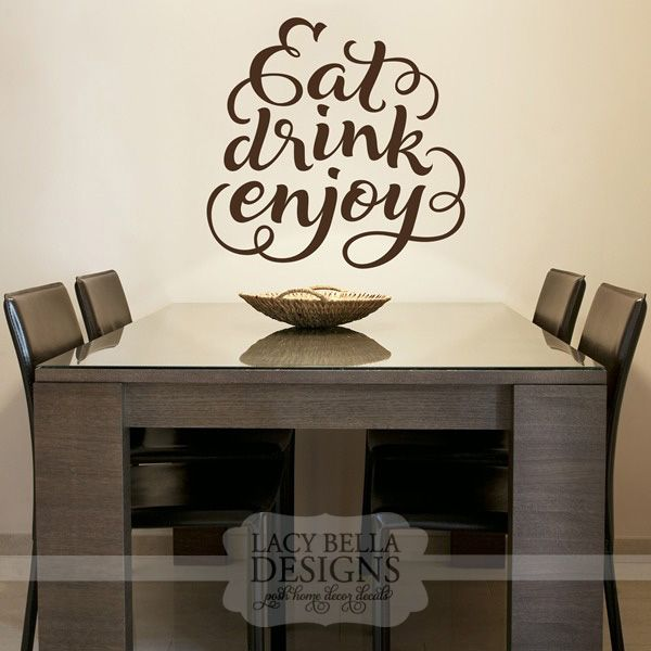 eat drink enjoy | for the home | kitchen wall decals, kitchen