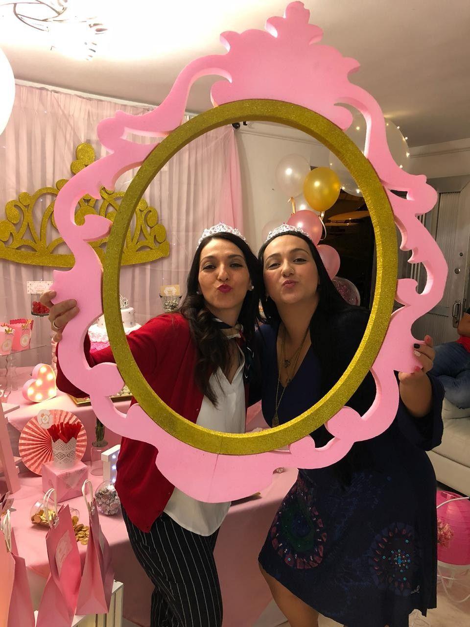 Candy bar #porta retrato #fiesta princesa #15 años. #fiestade15años