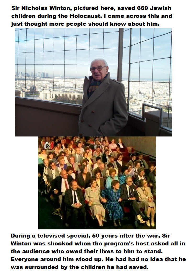 Photo of Sir Nicholas Winton (Sorry for the poor picture set up)