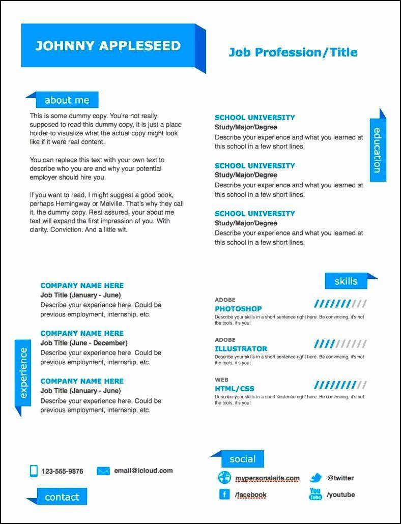 25 Modern Resume Template Word in 2020 Resume template