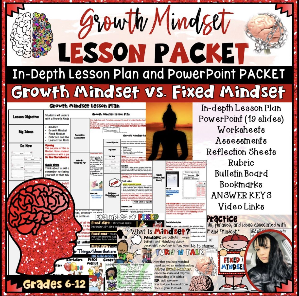 Growth Mindset Lesson Plan Powerpoint Worksheets Keys