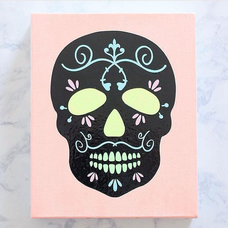 Neon sugar skull from thecasualcraftlete is so cute And those