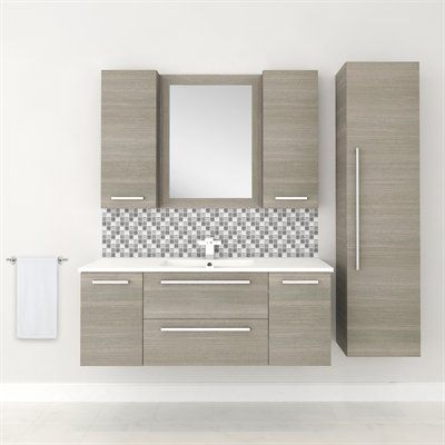 Cutler Kitchen Amp Bath Silhouette Collection 48 In Wall Hung Vanity With Top Single Bathroom Vanity Wall Hung Vanity Wall Mounted Cabinet