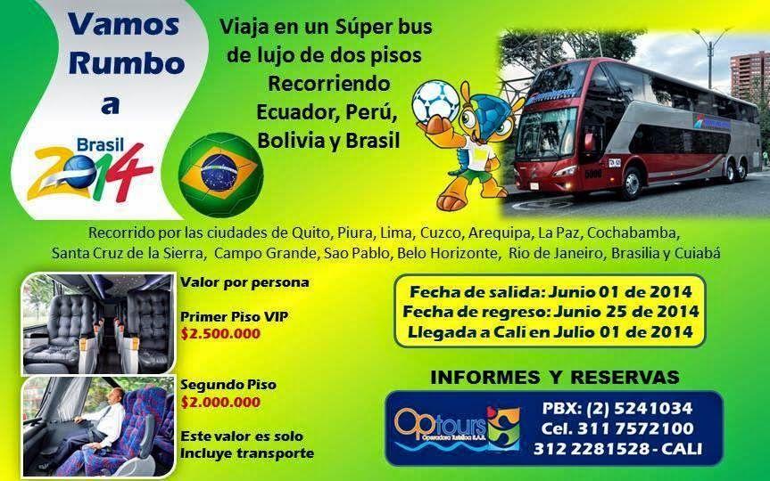 Viaje Hoteles y Tiquetes: VAMOS RUMBO AL MUNDIAL BRASIL 2014 Disfrute 30día...