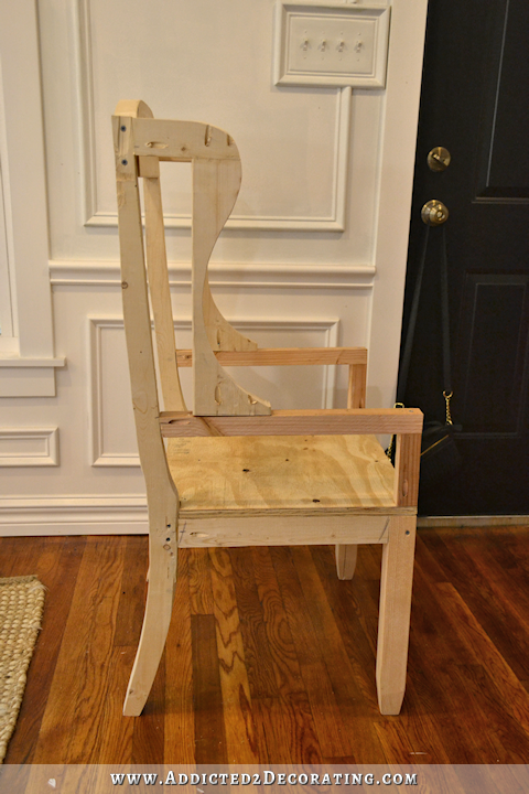 Diy Wingback Dining Chair How To Build A Frame For An Upholstered 20