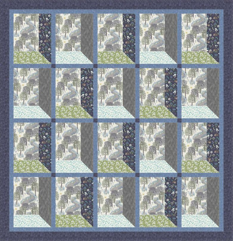 Bluebell Wood I Free Quilt Pattern Quilt Patterns Free Quilt Patterns Quilt Blocks Easy