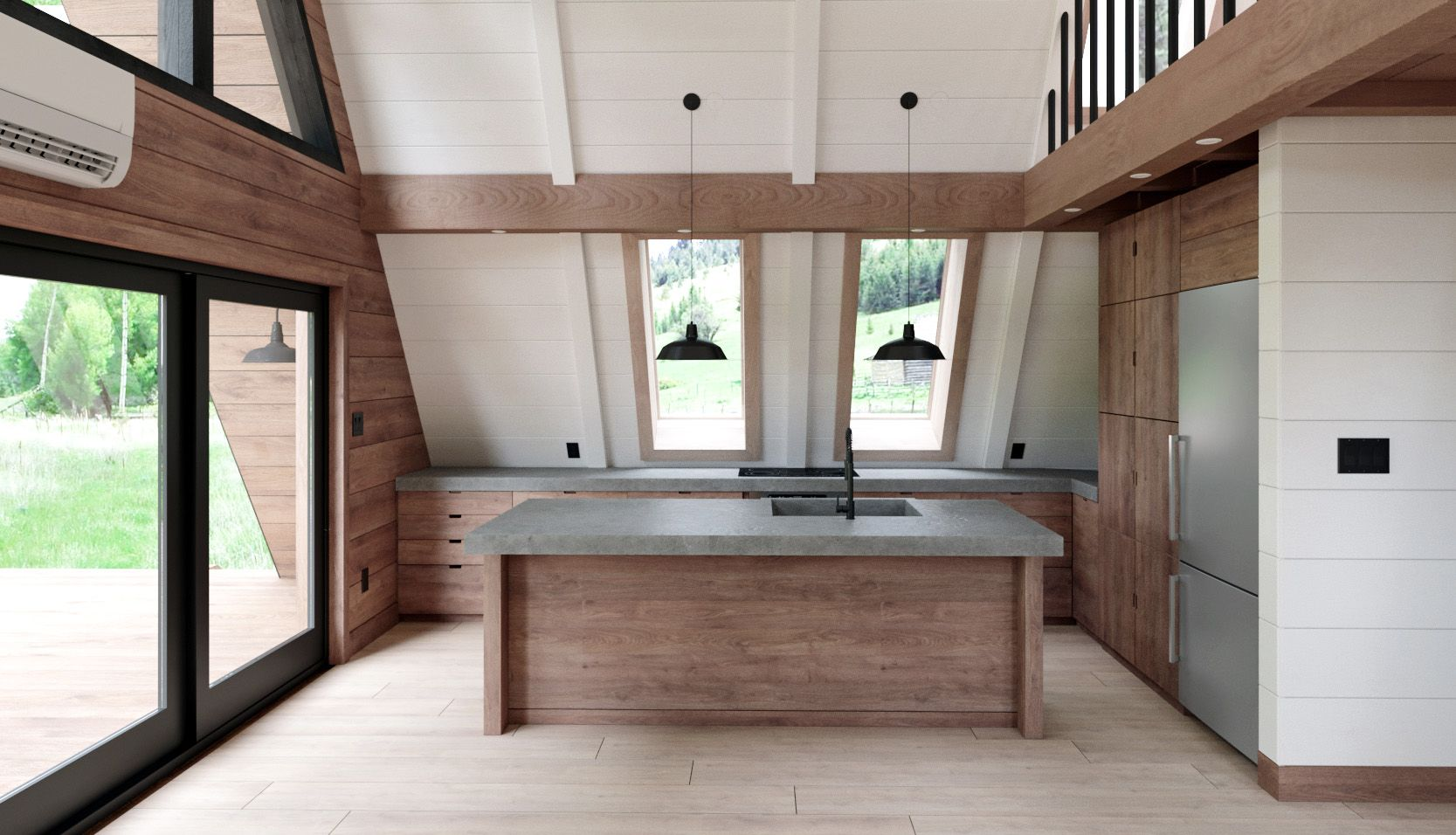 Build Your Own Beautiful And Sleek Flat Pack Cabin With This Company A Frame House Plans A Frame Cabin Plans A Frame House