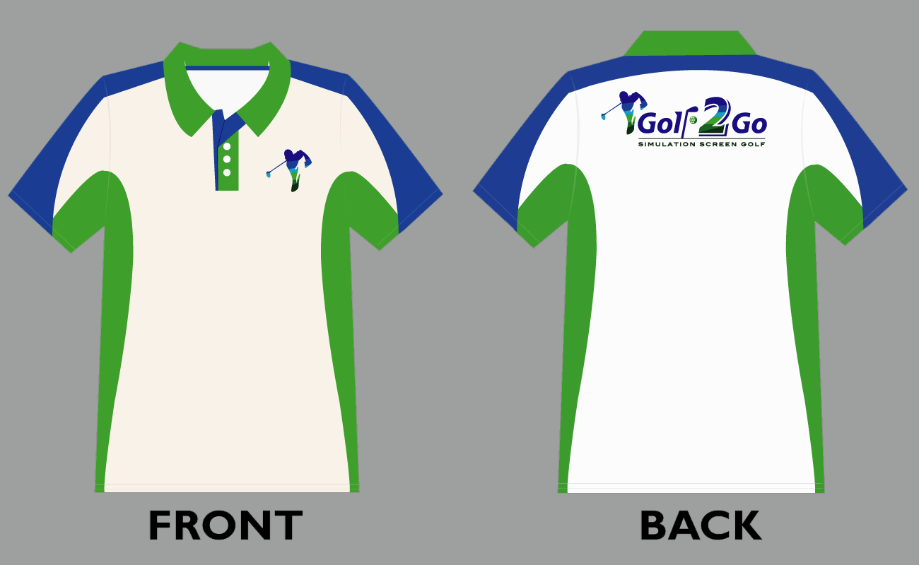 Vector Polo Shirt Design Template For Golf2go Golfer