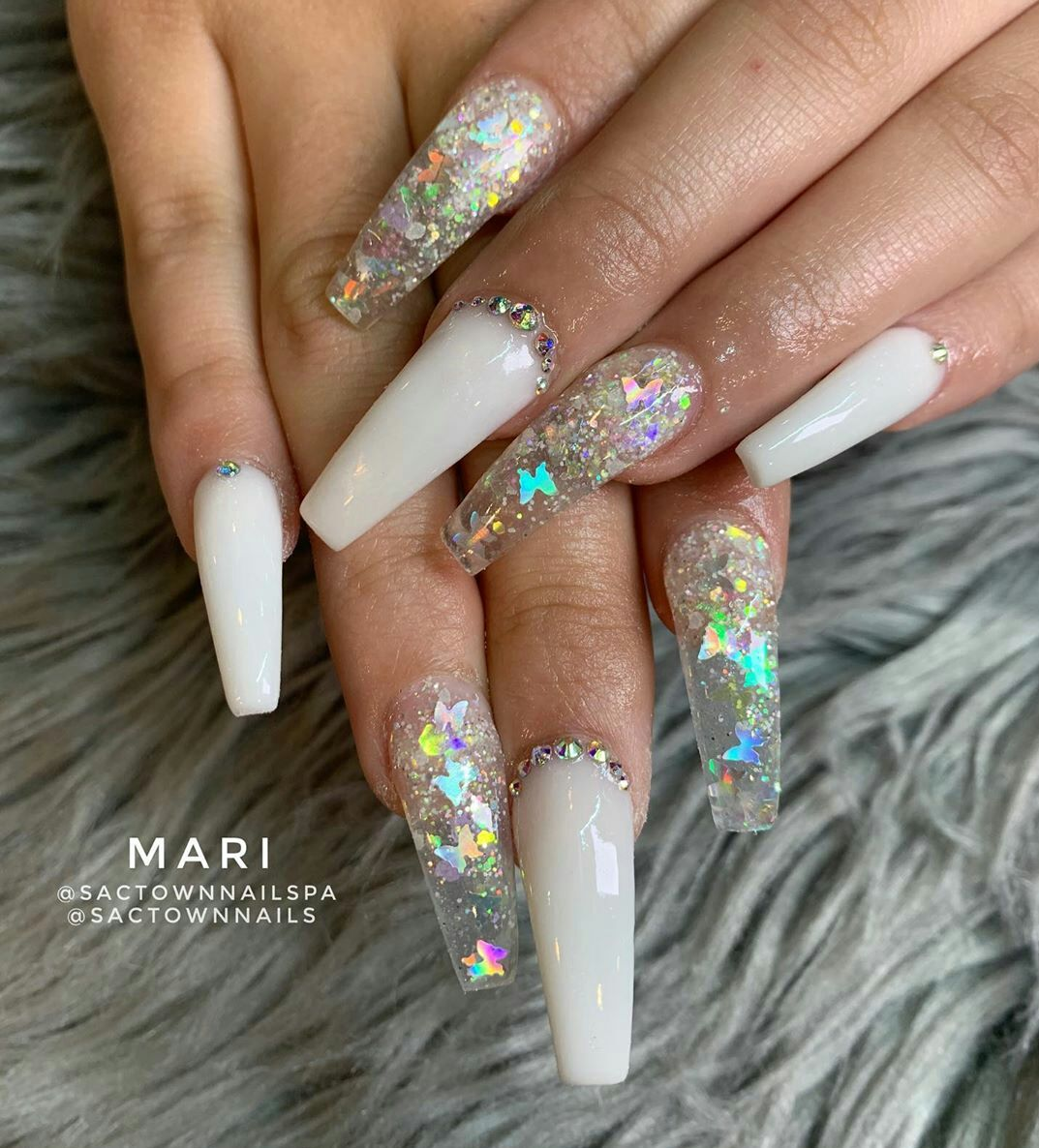 30+ Fabulous Winter Coffin Nail Designs For 2020 - The Glossychic