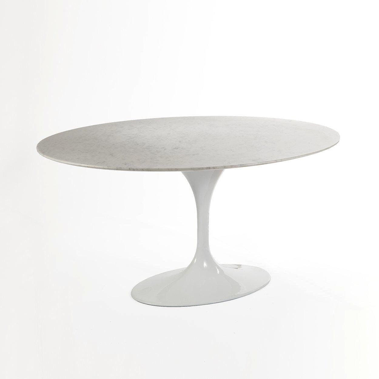 Mid Century Modern Reproduction Marble Tulip Dining Table 60 Oval Inspired By Eero Saarinen France Son Tulip Dining Table Dining Table Oval Table Dining