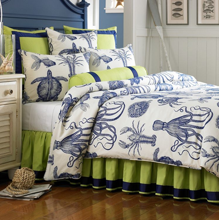 Octopus Crabs Turtles Fish Bedspread Love The Colors Home