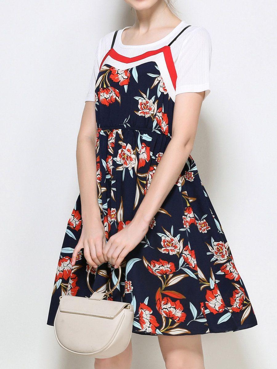 Adorewe stylewe midi dressesdesigner mingysyi two piece crew