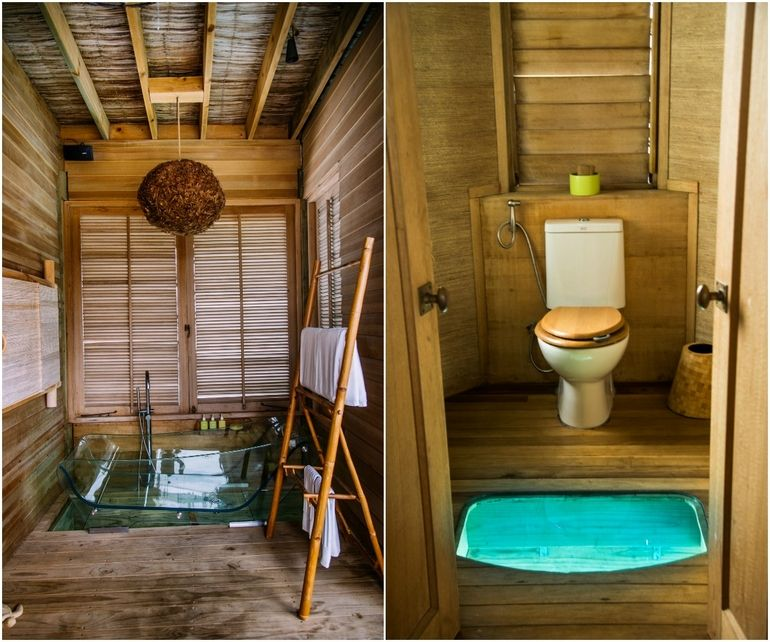 Be inspired by tropical bathroom ideas at six senses laamu for Tropical bathroom ideas