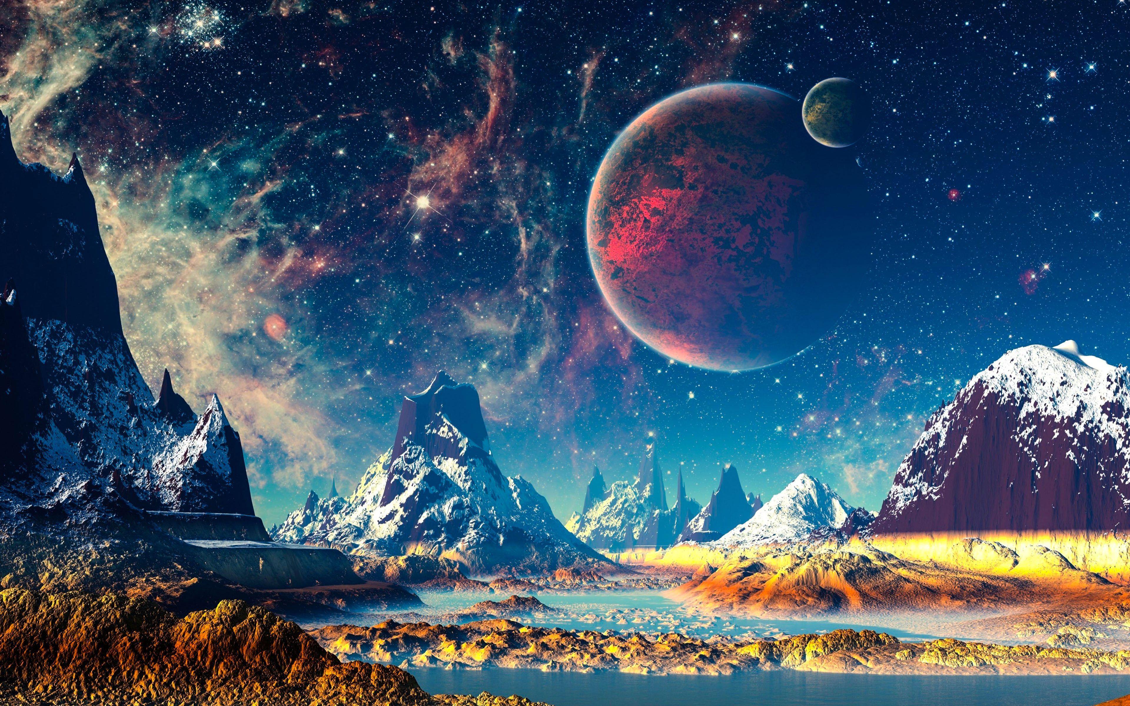 A Super Detailed Fantasy World 4k Wallpaper In 2020 Landscape Wallpaper Fantasy Landscape Digital Wallpaper