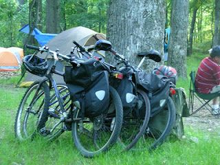 Touring Cyclists Always Welcome Camping.