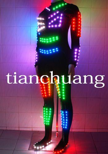 led light costumes tron light suits ballroom dance dresses club show clothes led ideas. Black Bedroom Furniture Sets. Home Design Ideas