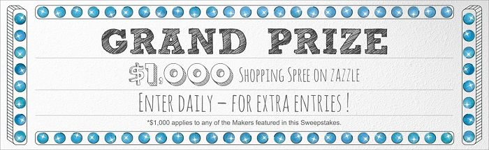 #sweepstakes  win prizes http://www.planetgoldilocks.com/American_sweepstakes.htm  Grand Prize…a $1,000 USD Zazzle shopping spree! (daily )Ends feb 21#contest @sweepstakes  #zazzlesweepstakes