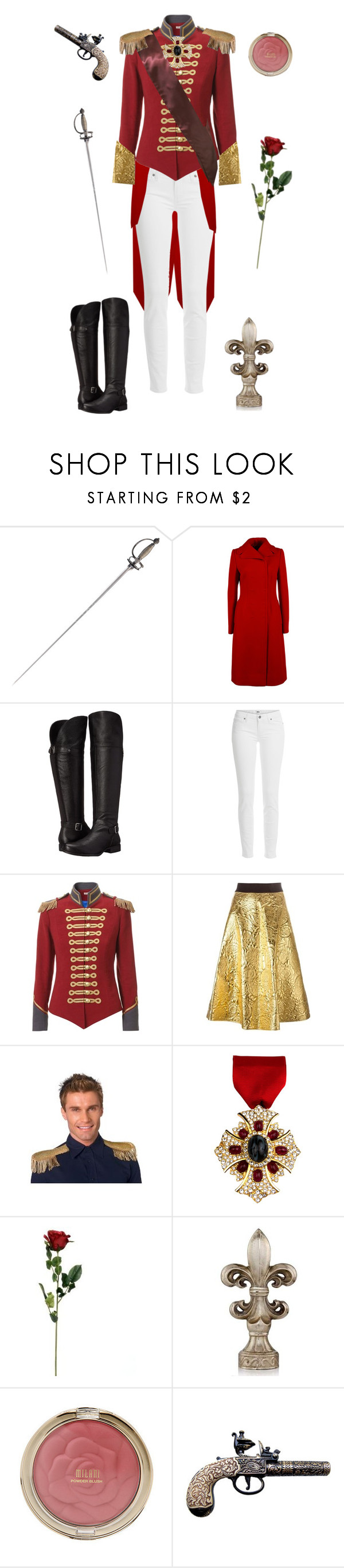 """""""Oscar François de Jarjayes- The Rose of Versailles"""" by conquistadorofsorts ❤ liked on Polyvore featuring Dolce&Gabbana, Naturalizer, Paige Denim, Pinky Laing, DKNY and Ben-Amun"""