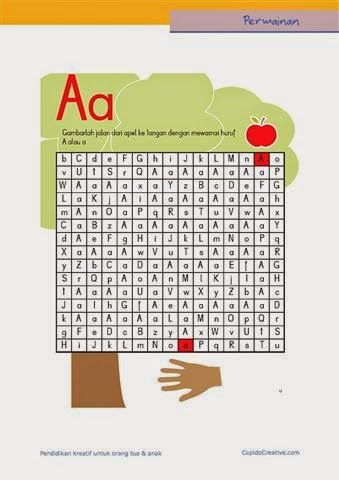 Permainan Anak Untuk Paud Balita Tk Gambar Labirin Maze Huruf A