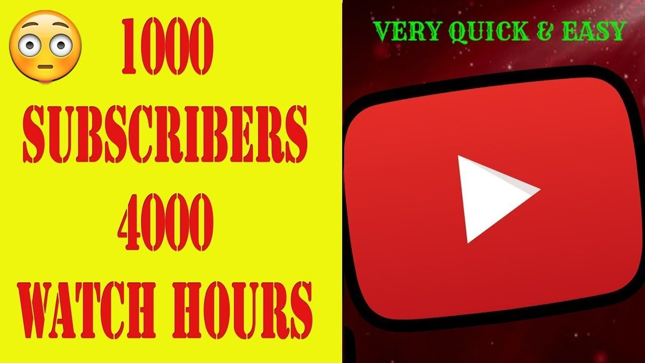 Youtube Hack - 1000+ Subscribers and 4000+ Watch Hours Fast