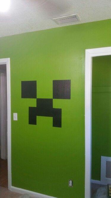 Minecraft Creeper Bedroom Paint Minecraft Room, Minecraft Stuff, Minecraft  Party, Boy Room Paint