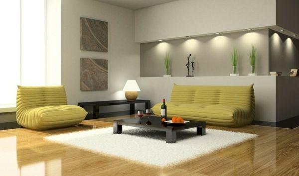 Bequemes Sofa - trendiges Wohnzimmersofa und passende Dekoideen - wohnzimmer ideen braune couch