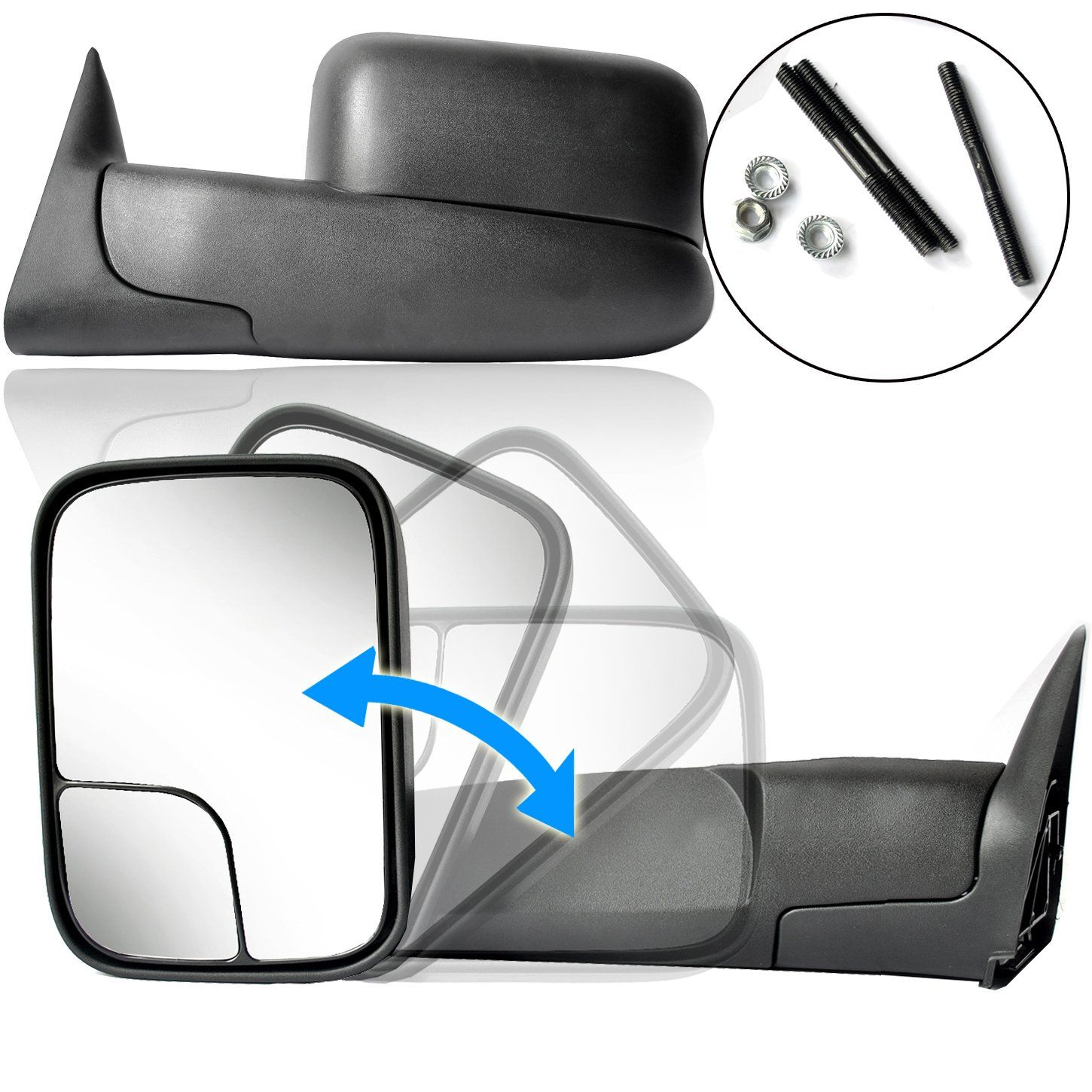 ECCPP Towing Mirror Replacement fit Dodge 9401 Ram 1500