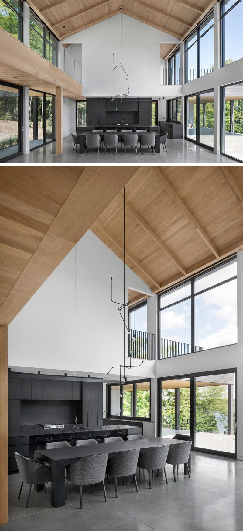 A Modern Barnhouse Design That Was Inspired By Local Farm Buildings Modern Barn House Barn House Plans Barn House Interior